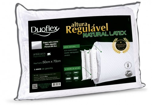 ADJUSTABLE HEIGHT NATURAL LATEX PILLOW