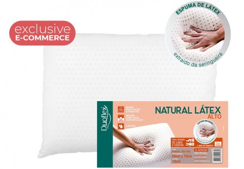 HIGH NATURAL LATEX PILLOW (E-COM)