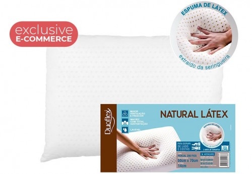 NATURAL LATEX PILLOW (E-COM)