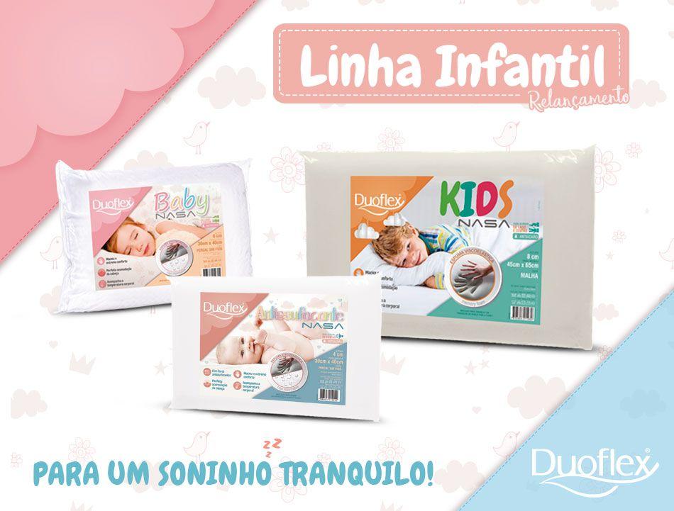 DUOFLEX LANÇA LINHA DE TRAVESSEIROS INFANTIS NASA