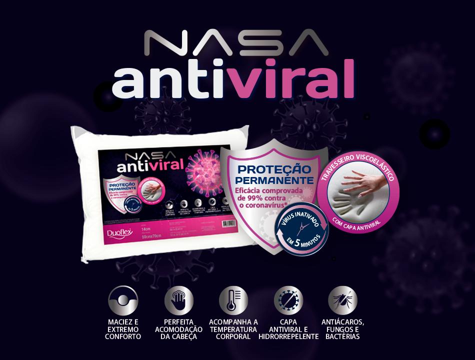 TRAVESSEIRO NASA ANTIVIRAL: CONFORTO E PROTEÇÃO PARA O SEU SONO